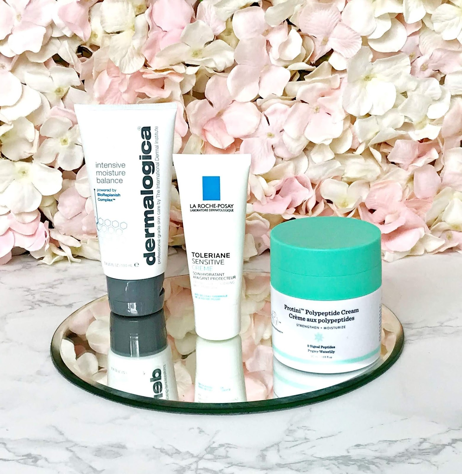 3 brilliant moisturisers for dry and sensitive skin, Drunk Elephant, Protini Peptde Cream, La Roche Posay, Toleriane, Dermalogica Intensive  Moisture Balance