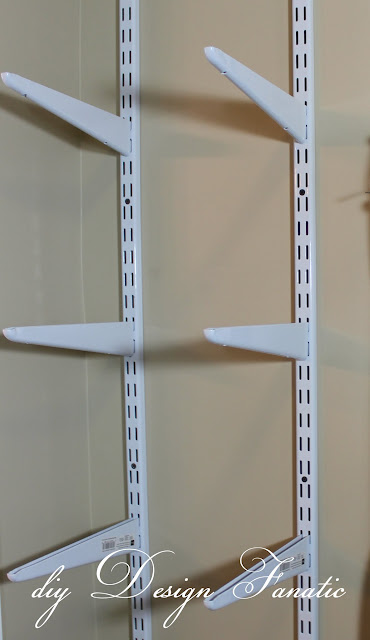 baskets, master closet, organization, storage shelves, add space to your closet, closet brackets