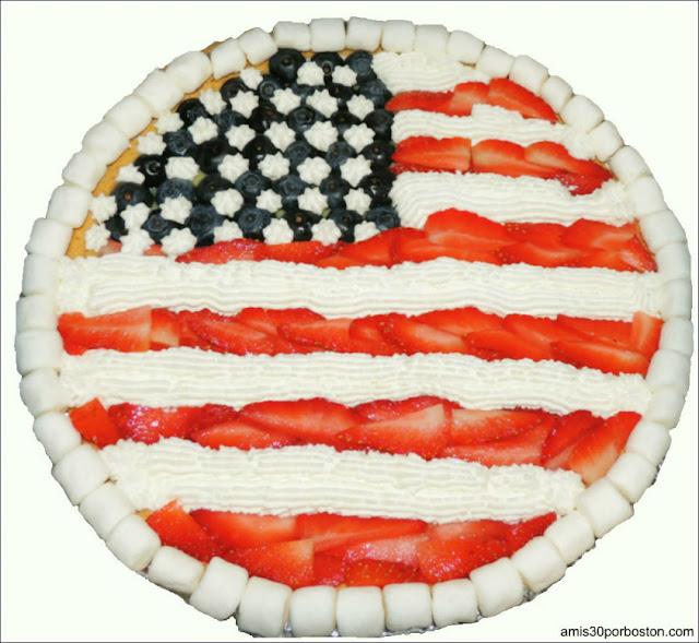 Tarta Americana de Fresas y Arándanos
