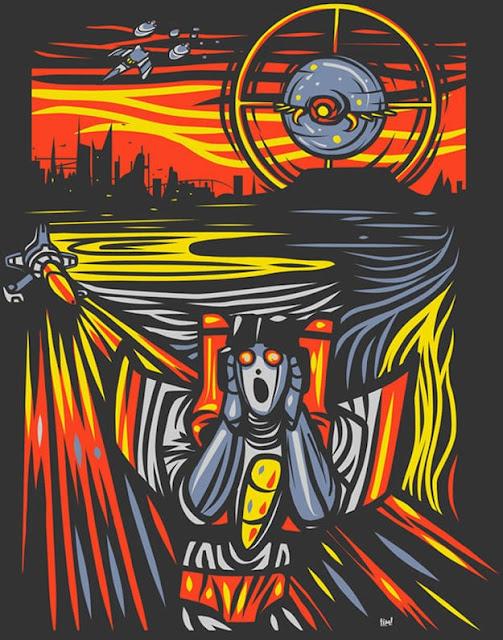El grito de Munch - Versión retrofuturista