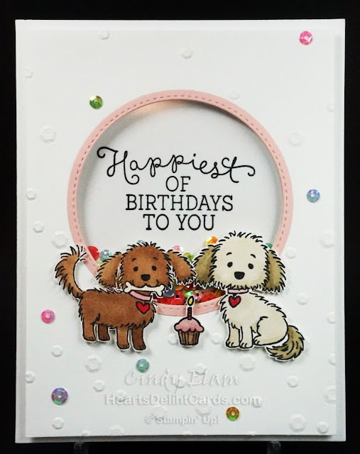 Bella & Friends, Stampin' Up!, Shaker Card
