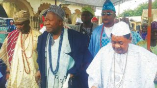 Image result for picture of olubadan of ibadan and alaafin of oyo