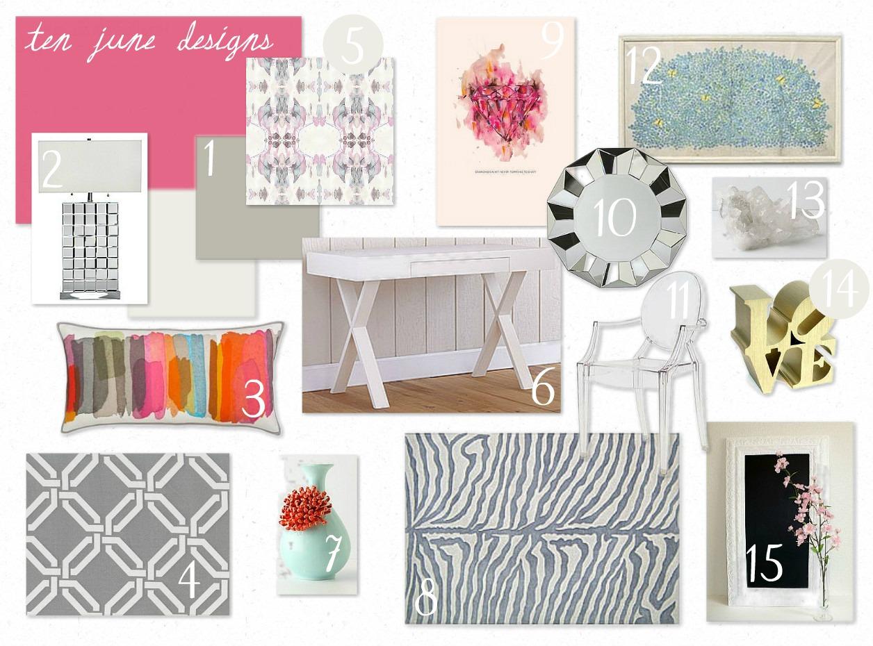 Ten June Glam Amp Girly Office E Design