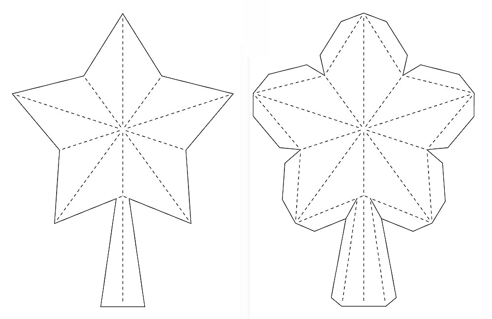 Crafting Creatures: 3D Paper Star for Xmas Tree Topper