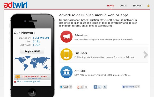 AdTwirl mobile ad network