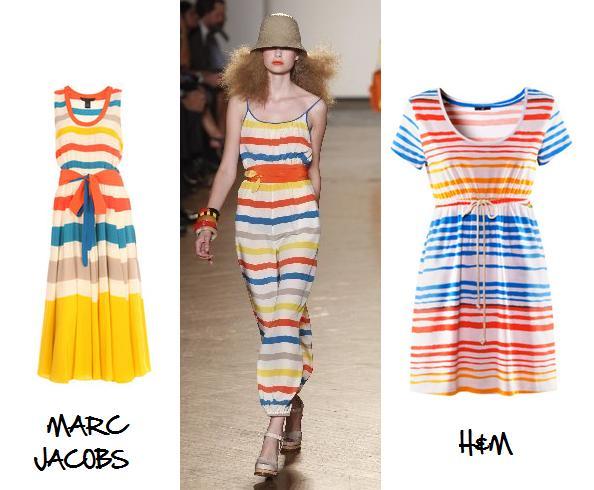 Clones 2011 vestido rayas Marc Jacobs H&M