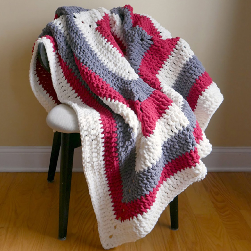 Snow Berries Throw - Free Pattern