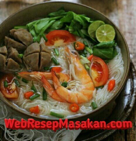 Misoa Kuah Udang, Resep misoa kuah udang,