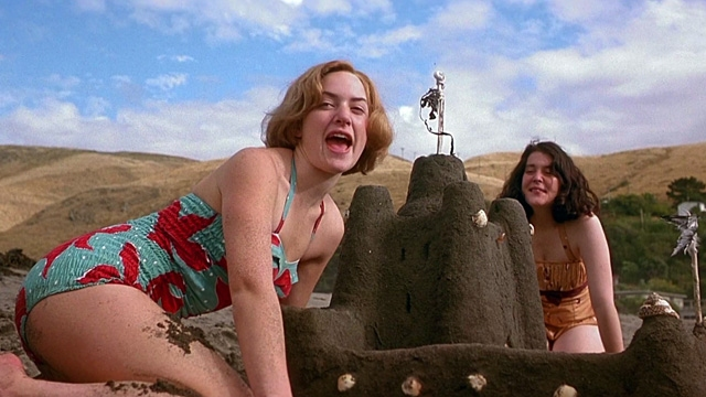 pauline and juliet in heavenly creatures 1950s beach scene