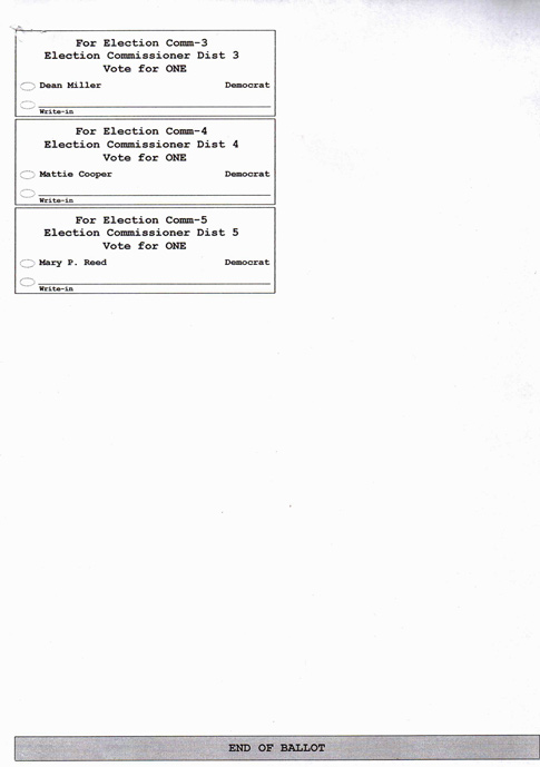 Fifth image of Sample Ballot For Upcoming Election with News & Articles: Sample Ballot for Upcoming Election