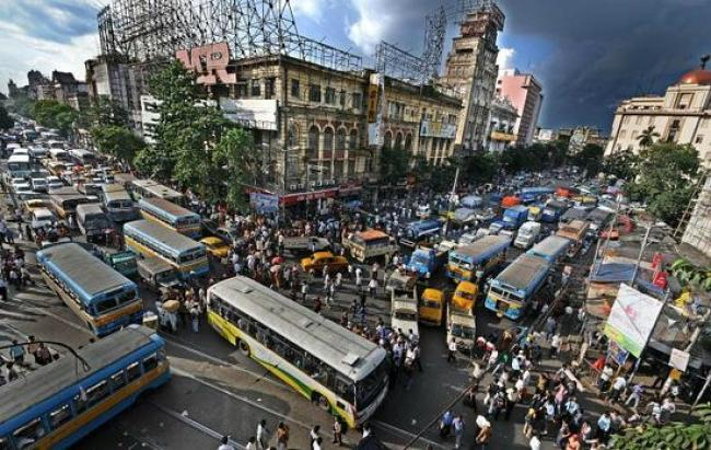 Kalküta. Chowringhee Caddesi - Hindistan