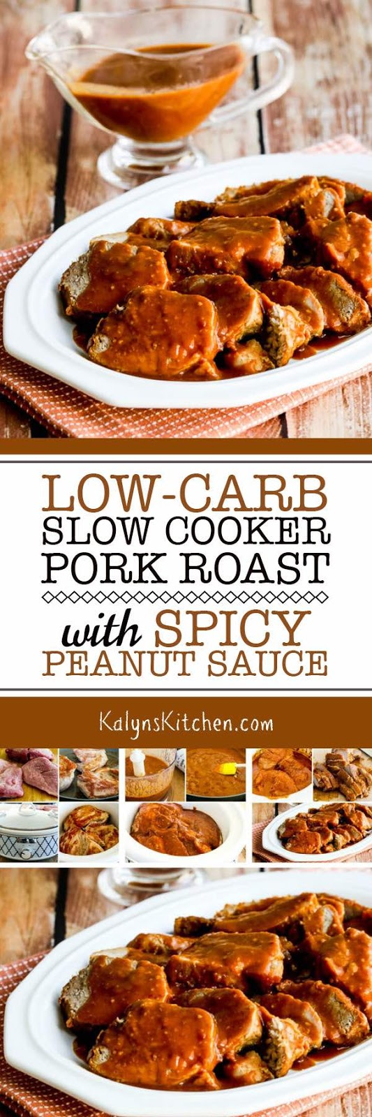 Low-Carb Slow Cooker (or Pressure Cooker) Pork Roast with Spicy Peanut ...
