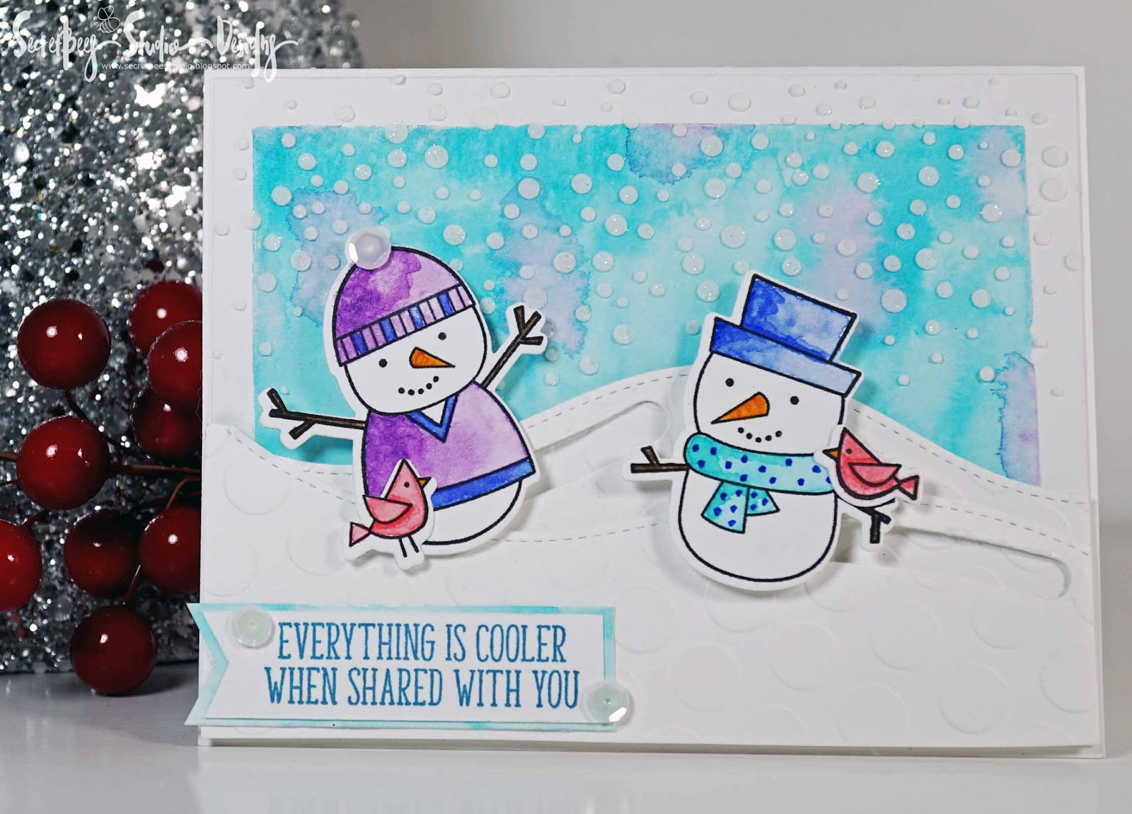 Home Accents Snowman Cardinals