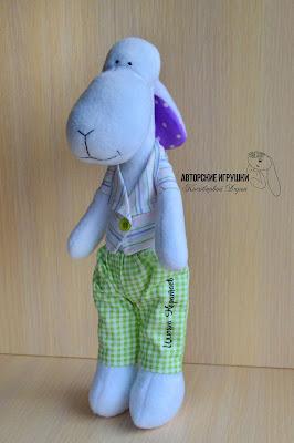 Овечка ручной работы, мягкая  овечка игрушка, игрушки купить киев, ручная работа Киев, авторские игрушки, мягкая игрушка овечка