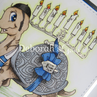 Happy Hanukkah detail - photo by Deborah Frings - Deborah's Gems