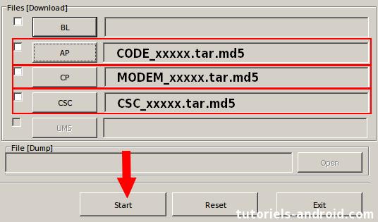 ODIN : Ajouter une ROM plusieurs fichiers GT-N9005