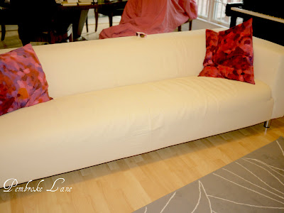 Pembroke Lane Pink And Yellow Ikea Klippan Dyed Couch Slipcovers A Tutorial