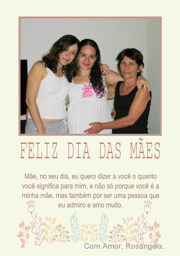 Cartão de fotos para o dia das Mães