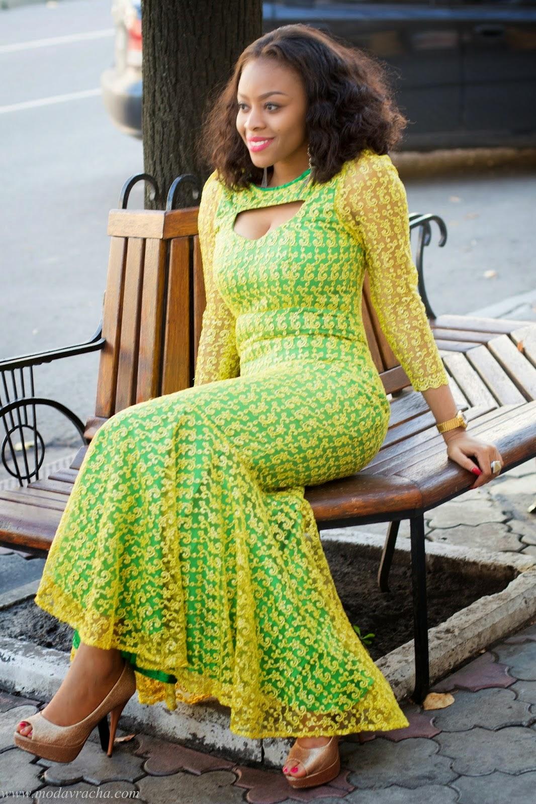 Ankara Style Long Gown - DeZango