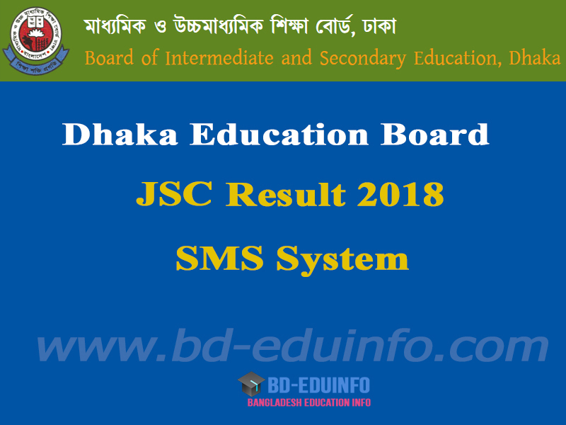 Dhaka Board JSC Result 2018