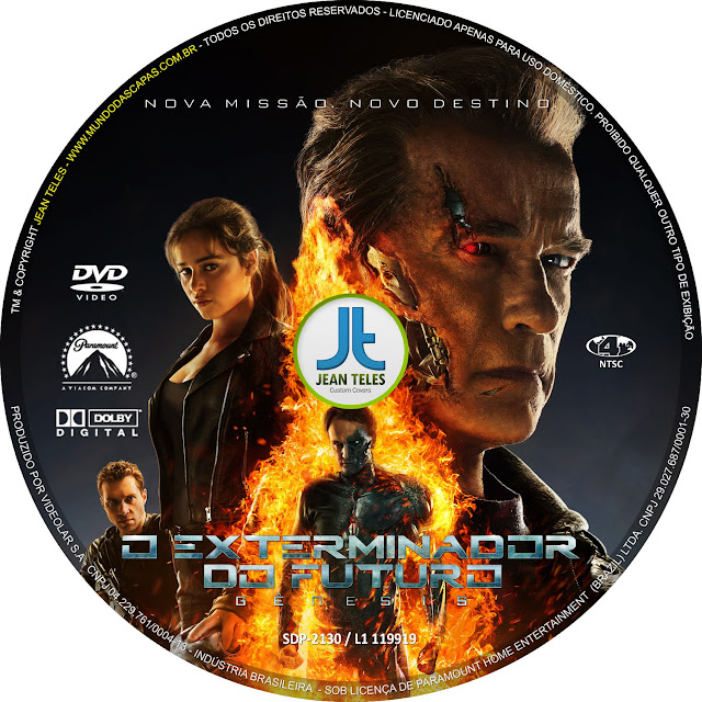 Label DVD O Exterminador Do Futuro Gênesis