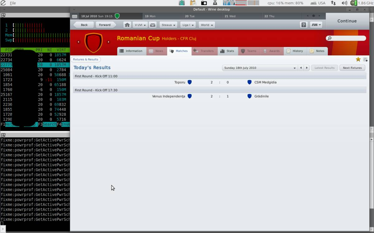 football manager 2011 ubuntu linux wine