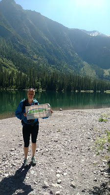Backpacking with Banners - Avalanche Lake in Glacier National Park