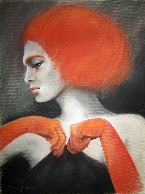 Portrait einer Frau vom Foto zeichnen