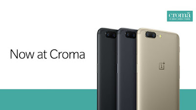 List of Croma offline retail Stores to Buy OnePlus 5 in India