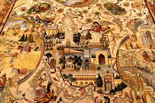 Maravilloso tapiz persa.