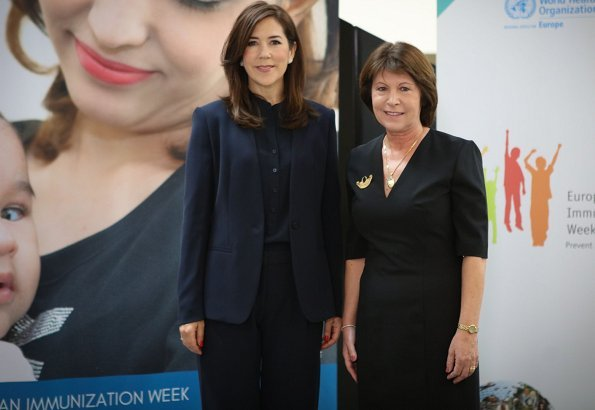As the patron of Europe region of World Health Organization, Crown Princess Mary visited the WHO regional office