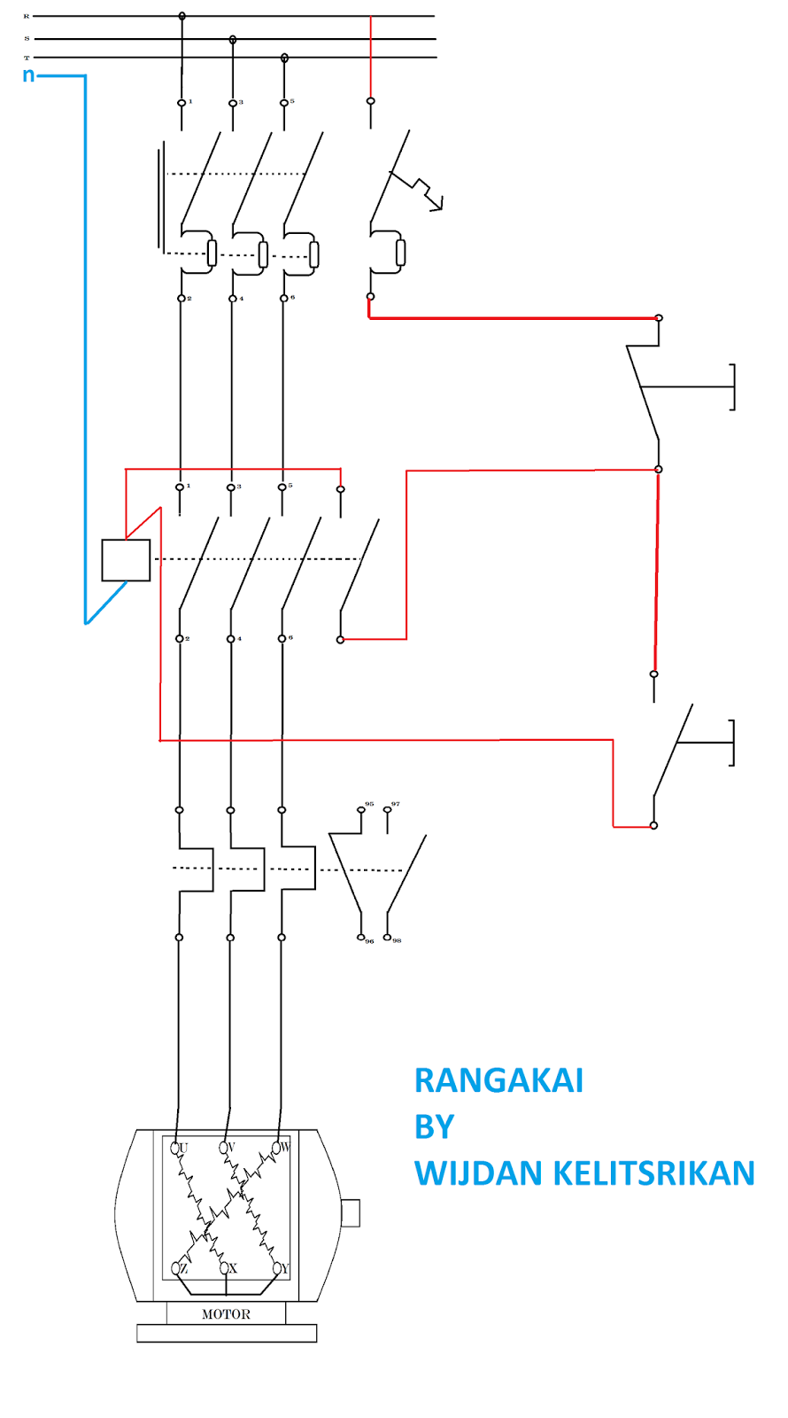 Direct Online Starter Wiring Diagram For Single Phase Dol Power Circuit Reveres Forward Rangkaian Image Kontrol Paling On