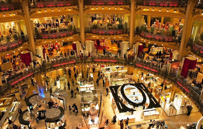 lojas de departamento em Paris