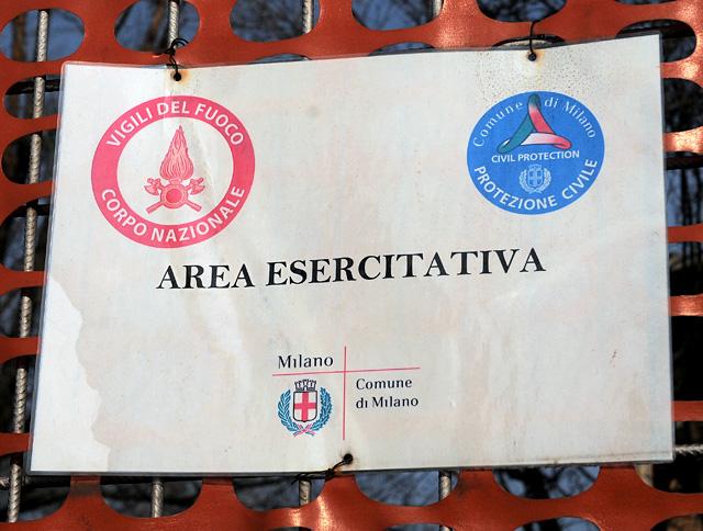 area esercitativa vigili del fuoco e protezione civile