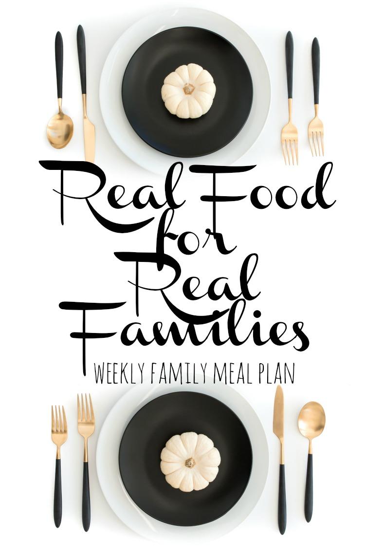 Weekly Family Meal Plan 2017 Week 48
