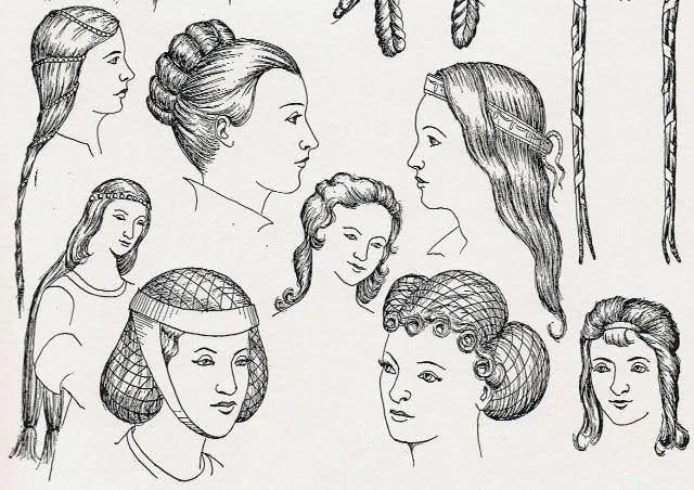 Alcune semplici acconciature medievali