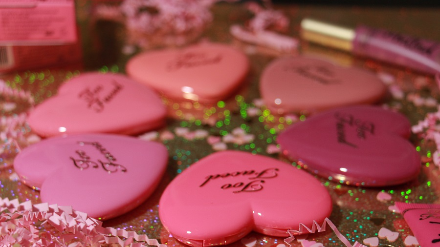 love flush blush too faced collection