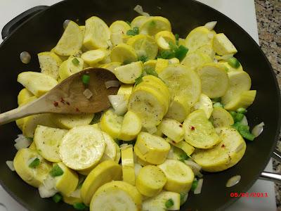 Yellow squash sauteed