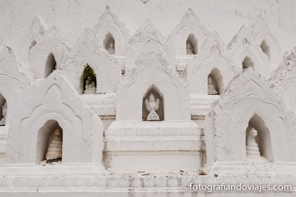 La pagoda Hsinbyume o Myatheindan en Mingun cerca de Mandalay en Myanmar