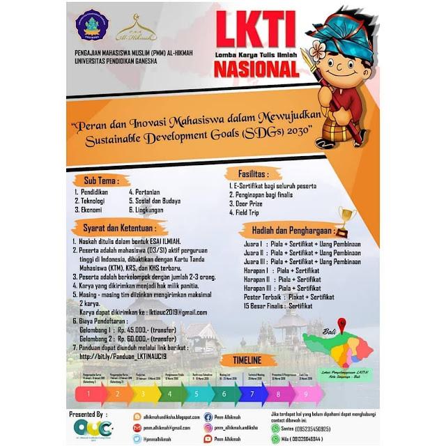 LKTI Nasional Al-Hikmah Undiksha Competition 2019 Mahasiswa