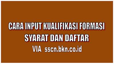 Cara Input Kualifikasi Formasi, Syarat dan Daftar Via sscn.bkn.co.id