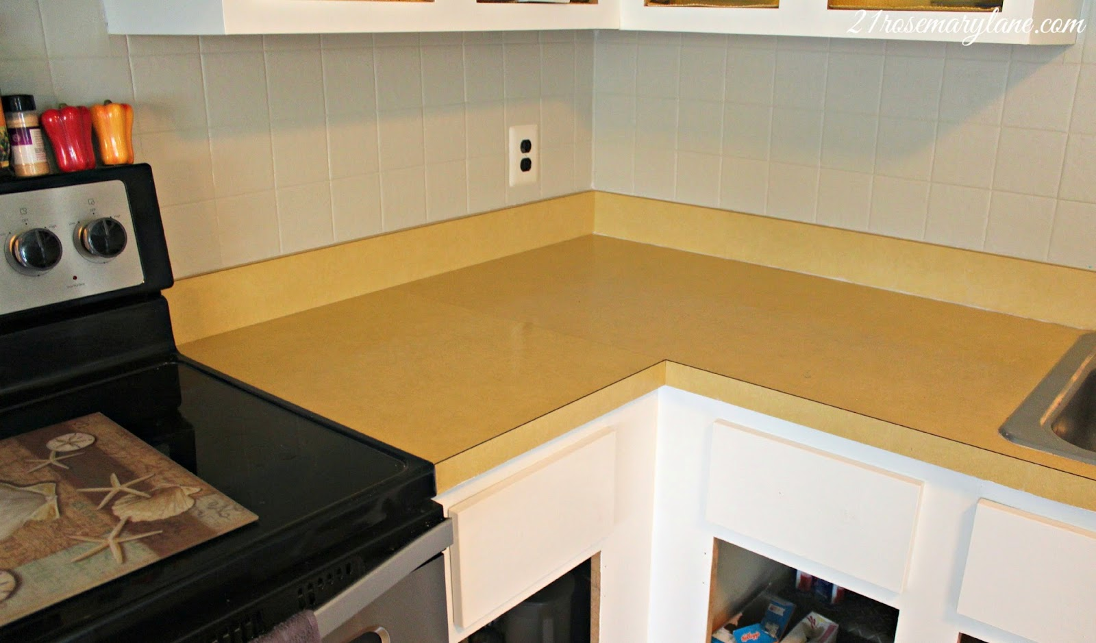inexpensive kitchen countertops breakfast bar 21 rosemary lane: transformation of a 1970's formica ...
