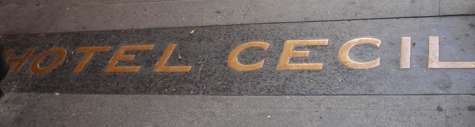 Hotel Cecil sidewalk