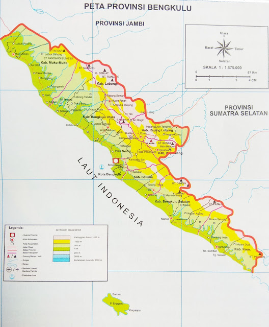 Gambar Peta Administrasi Provinsi Bengkulu