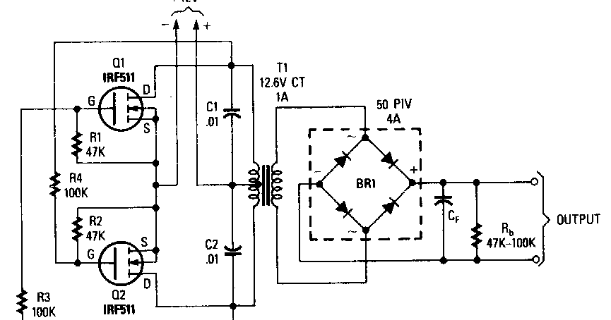 Forum Diagram: Power Mosfet Inverter Wiring diagram Schematic