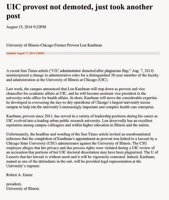 CSU Faculty Voice: U of Illinois to Angela Henderson--We're
