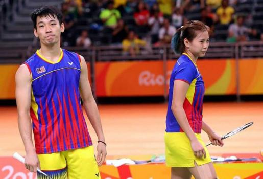 RIO 2016 OLYMPIC GAME (Badminton) - Mixed Doubles Semifinal match between GOH Liu Ying/CHAN Peng Soon (Malaysia)【WON】XU Chen/MA Jin (China), 21-12, 21-19
