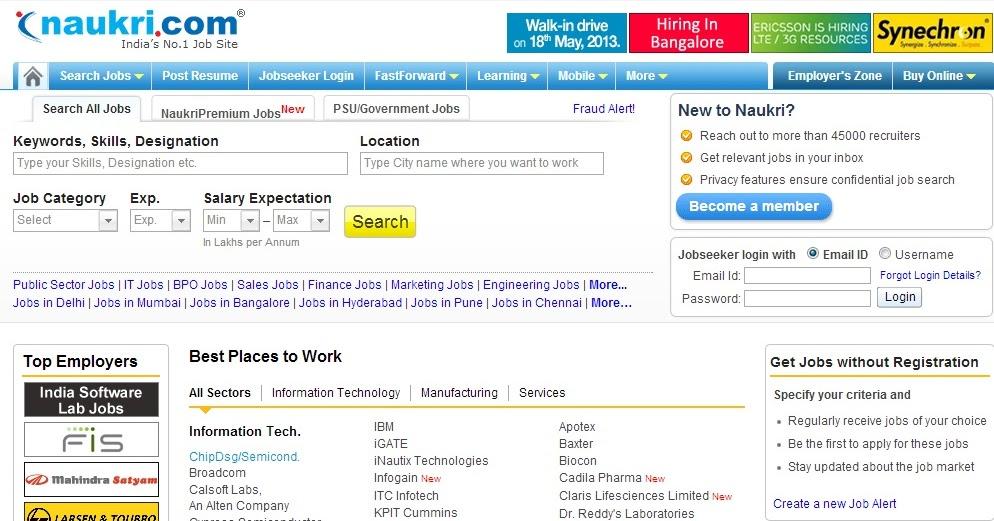 how can web scraping of job sites like naukri helpful