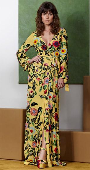 PatBO Verão 2017 vestido longo estampado com fenda e bordados