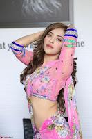 Angela Krislinzki Rogue Movie Fame Telugu Actress in Saree Backless Choli 042.JPG